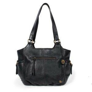 The Sak Kendra Black Leather Hobo Shoulder Bag